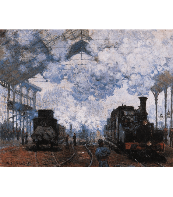 Printing on canvas: Claude Monet - Arrival at the Saint-Lazare Station
