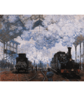 Claude Monet - Arrival at the Saint-Lazare Station. Printing on canvas
