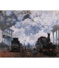 Claude Monet - Arrivo alla stazione Saint-Lazare. Stampa su tela