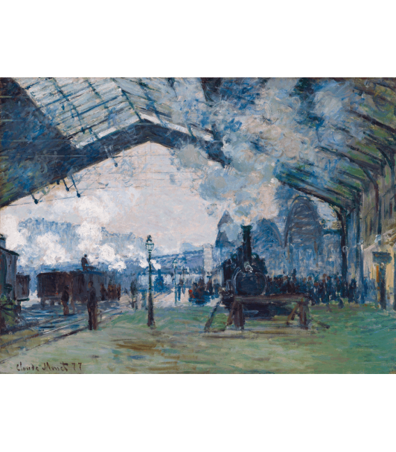 Printing on canvas: Claude Monet - Arrival of the Normandy Train