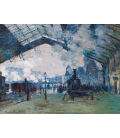 Claude Monet - Arrival of the Normandy Train, Saint-Lazare Station. Printing on canvas