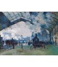Claude Monet - Arrivo del treno di Normandia, stazione Saint-Lazare. Stampa su tela