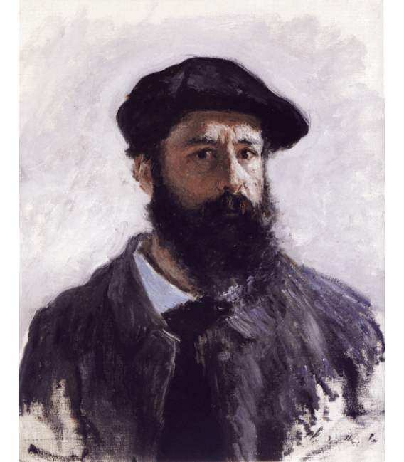 Stampa su tela: Claude Monet - Autoritratto