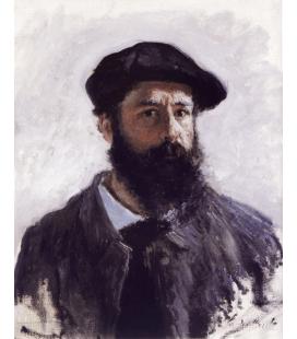 Stampa su tela: Claude Monet - Autoritratto