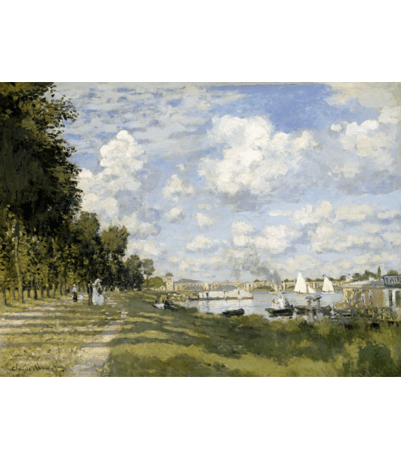 Printing on canvas: Claude Monet - Argenteuil Basin