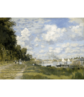 Claude Monet - Bacino di Argenteuil. Stampa su tela
