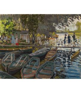 Stampa su tela: Claude Monet - Bagnanti a La Grenouillère
