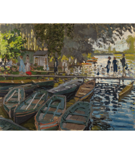 Printing on canvas: Claude Monet - Bathers at La Grenouillère