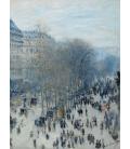 Claude Monet - Boulevard des Capucines. Stampa su tela