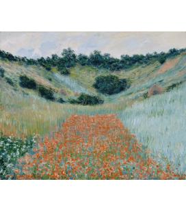 Stampa su tela: Claude Monet - Campo di papaveri in una conca vicino a Giverny