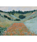 Claude Monet - Field of Poppies in a valley near Giverny. Printing on canvas