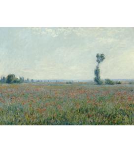 Stampa su tela: Claude Monet - Campo di papaveri