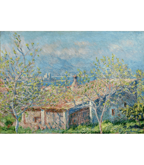 Printing on canvas: Claude Monet - The gardener's house in Antibes