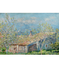 Claude Monet - Casa del giardiniere ad Antibes. Stampa su tela