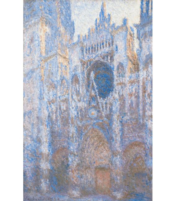 Stampa su tela: Claude Monet - Cattedrale di Rouen, facciata ovest