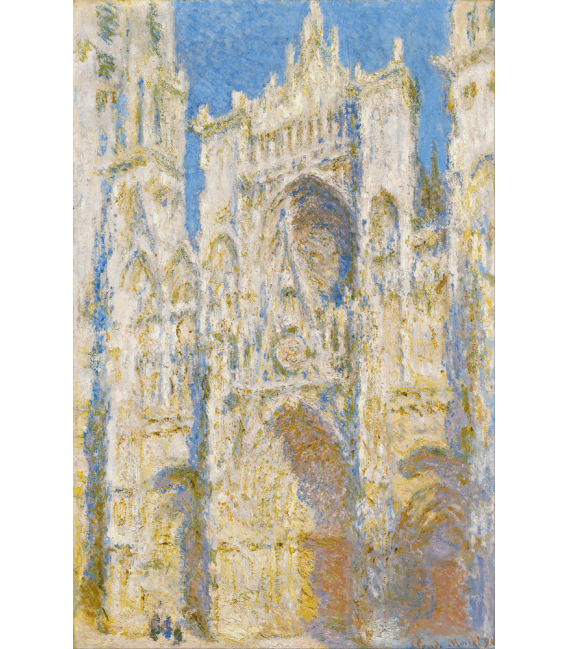 Printing on canvas: Claude Monet - Cathedral of Rouen