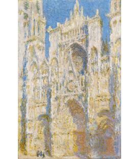 Stampa su tela: Claude Monet - Cattedrale di Rouen, facciata ovest, luce del sole