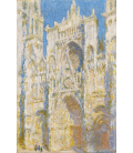 Claude Monet - Cathedral of Rouen, west facade, sunlight. Printing on canvas