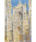 Claude Monet - Cattedrale di Rouen, facciata ovest, luce del sole. Stampa su tela