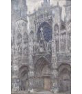 Claude Monet - Rouen Cathedral, the Portal, weather gray. Printing on canvas