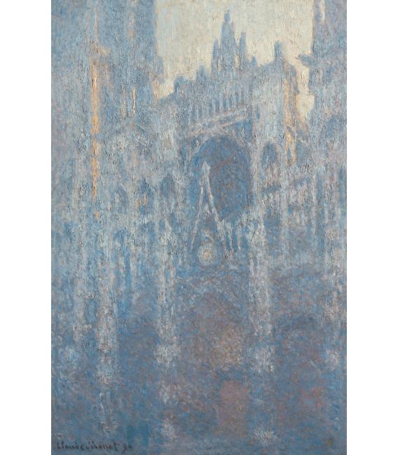 Stampa su tela: Claude Monet - Cattedrale di Rouen, Portale nella luce del mattino