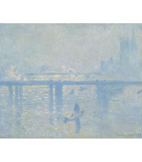 Stampa su tela: Claude Monet - Charing Cross Bridge, London, 1