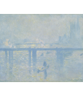 Claude Monet - Charing Cross Bridge, London, 1. Printing on canvas