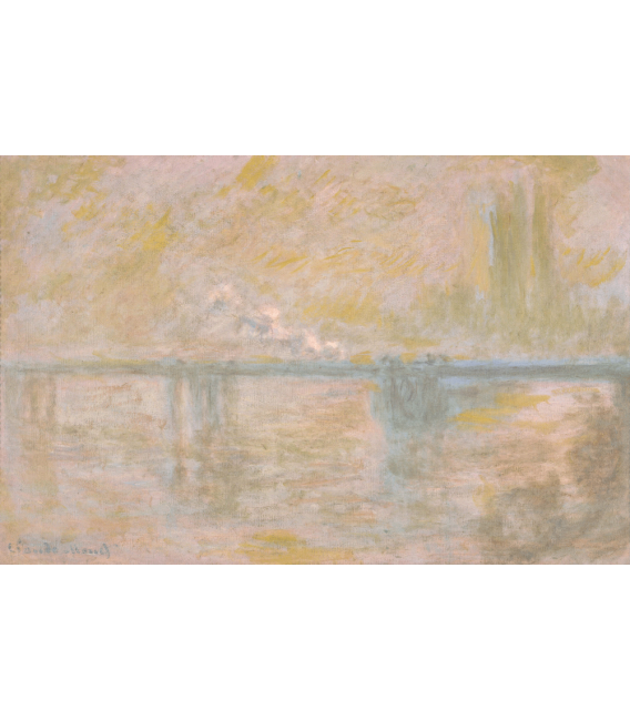 Stampa su tela: Claude Monet - Charing Cross Bridge, London, 2