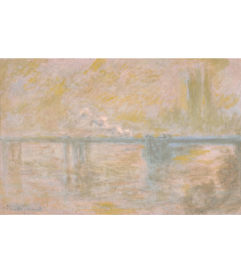 Printing on canvas: Claude Monet - Charing Cross Bridge