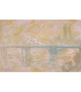 Stampa su tela: Claude Monet - Charing Cross Bridge, London, 2
