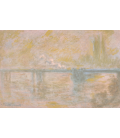 Claude Monet - Charing Cross Bridge, London, 2. Stampa su tela