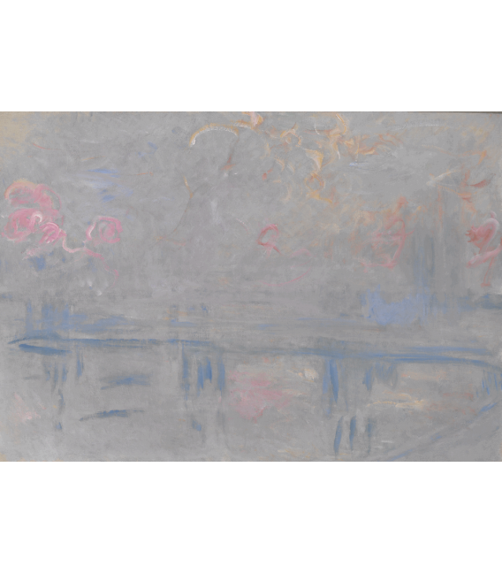 Stampa su tela: Claude Monet - Charing Cross Bridge, London, 3