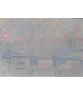 Stampa su tela: Claude Monet - Charing Cross Bridge, London, 3