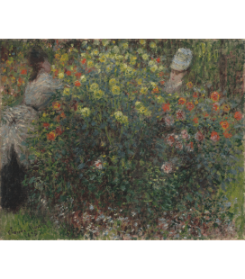 Printing on canvas: Claude Monet - Women in bloom