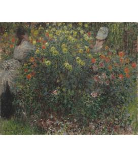 Stampa su tela: Claude Monet - Donne in fiore