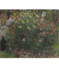 Stampa su tela: Claude Monet - Donne in fiore