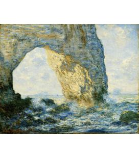 Stampa su tela: Claude Monet - Etrétat, l'arco di roccia occidentale a Manneporte