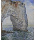 Claude Monet - Etrétat, Manneporte. Stampa su tela
