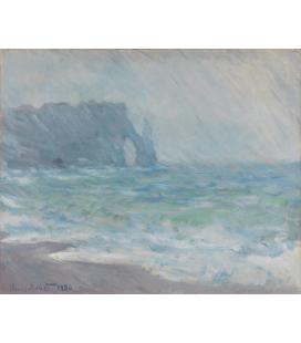 Stampa su tela: Claude Monet - Etrétat, Regnvær
