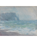 Claude Monet - Etrétat, Regnvær. Stampa su tela