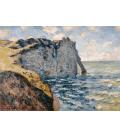 Claude Monet - Etrétat, Scoglio di Aval. Stampa su tela