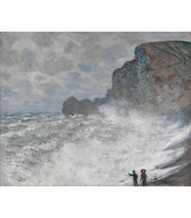 Stampa su tela: Claude Monet - Etrétat, Tempo avverso