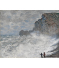 Claude Monet - Etretat, adverse weather. Printing on canvas