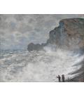 Claude Monet - Etrétat, Tempo avverso. Stampa su tela