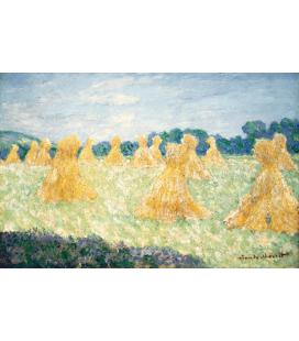 Stampa su tela: Claude Monet - Giovani signore di Giverny, effetto sole