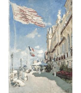 Stampa su tela: Claude Monet - Hôtel des roches noires, Trouville