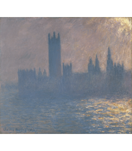 Stampa su tela: Claude Monet - Houses of Parliament