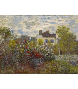 Stampa su tela: Claude Monet - Il giardino dell'artista ad Argenteuil