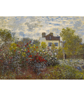 Printing on canvas: Claude Monet - The Artist's Garden in Argenteuil