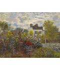Claude Monet - Il giardino dell'artista ad Argenteuil. Stampa su tela